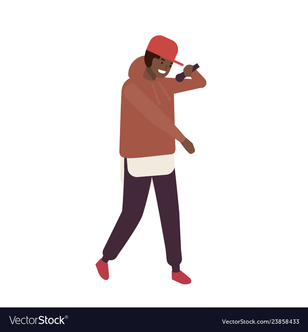 African american r n b vocalist wearing cap