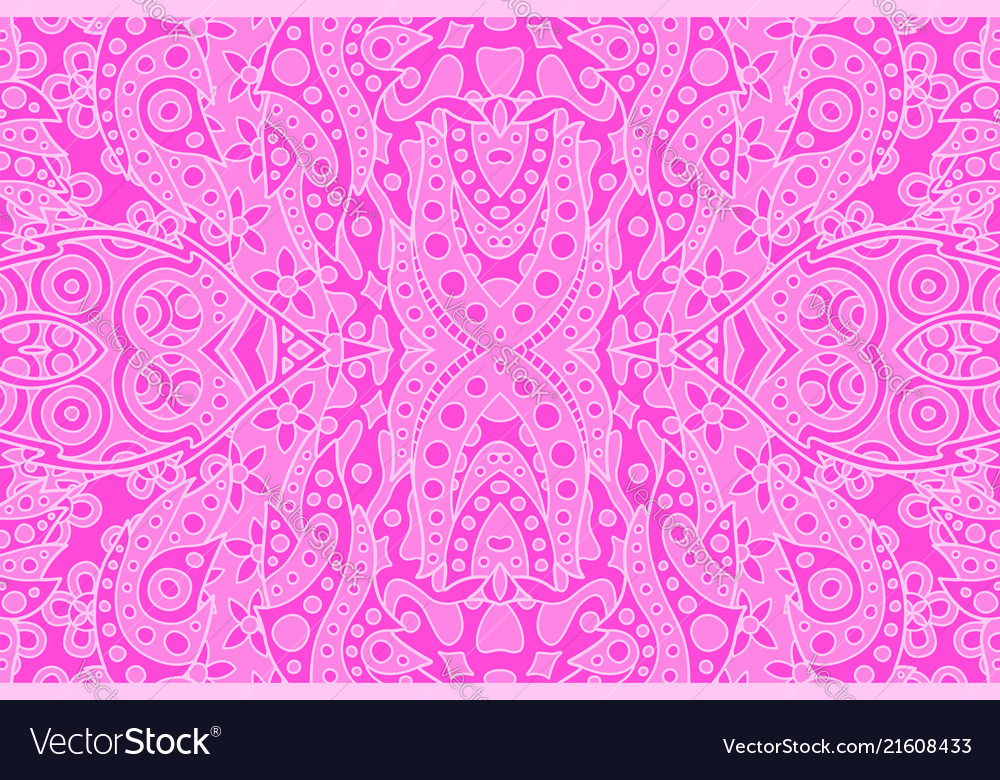 Art with abstract seamless oriental pink pattern