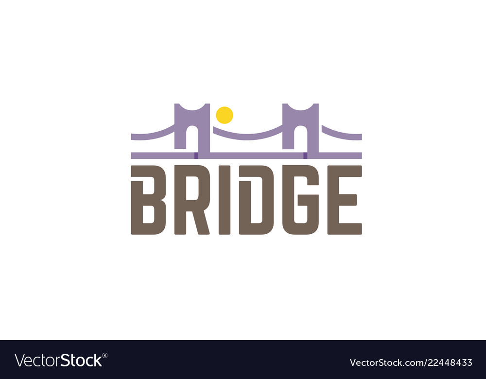 Bridge typography letter symbol logo vector