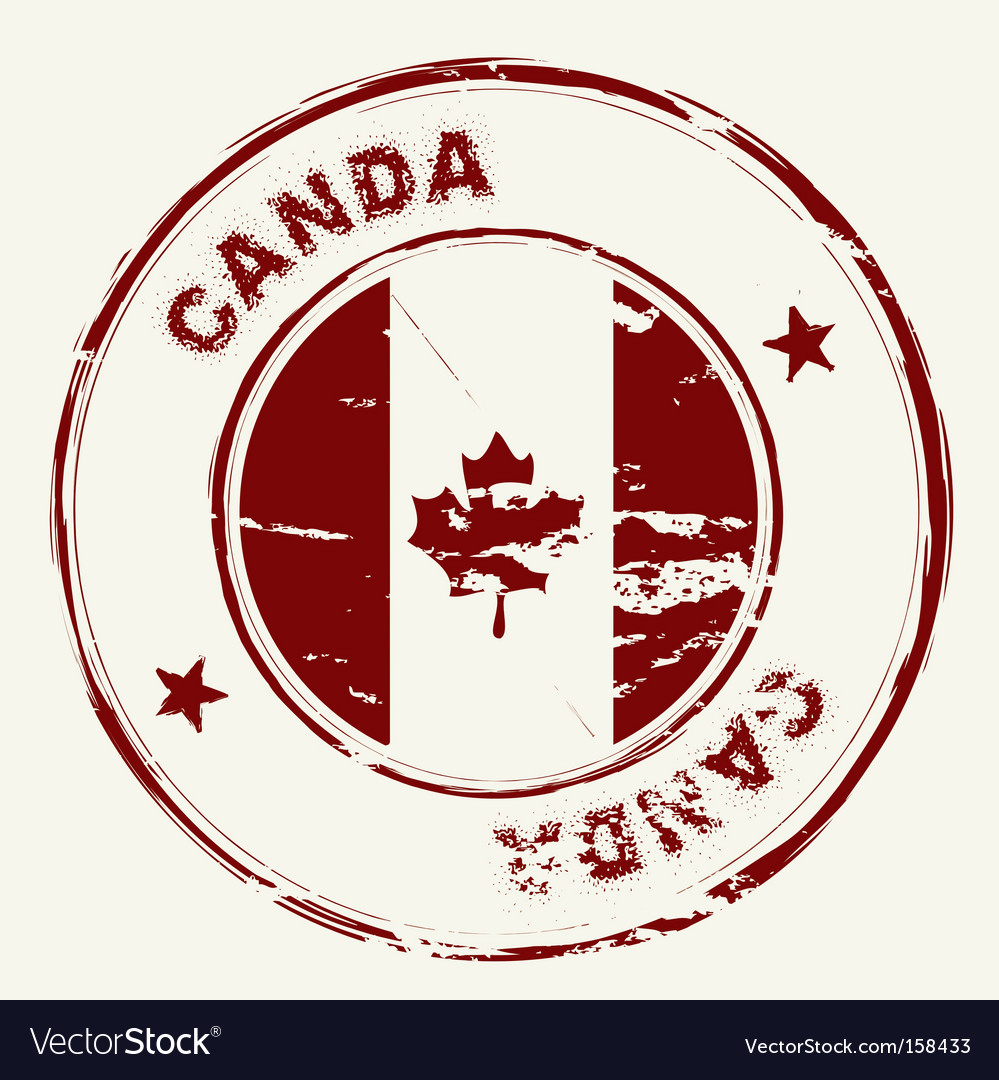Canada ink stamp
