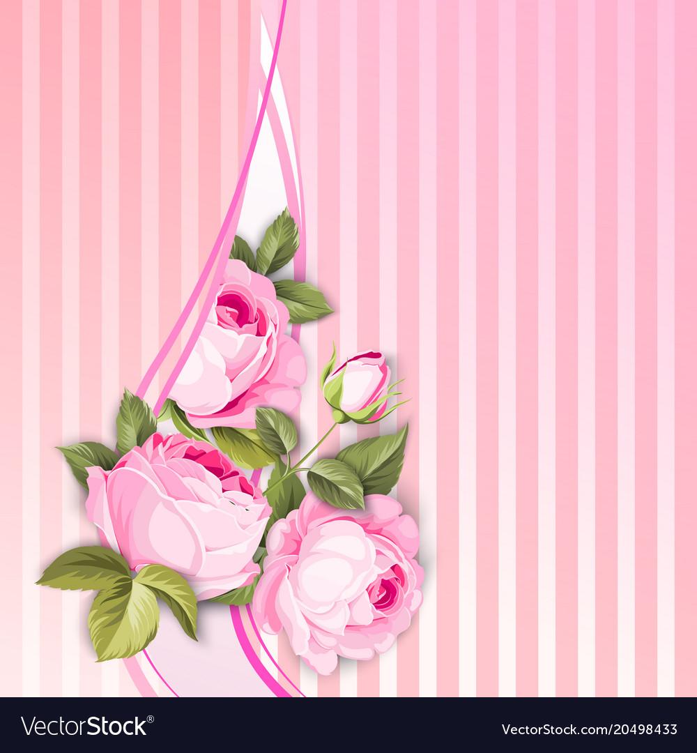 Flower garland for invitation card royalty free vector image flower garland for invitation card vector image mightylinksfo