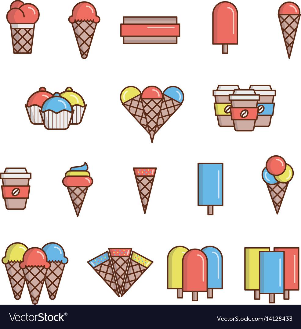 Ice-cream icons