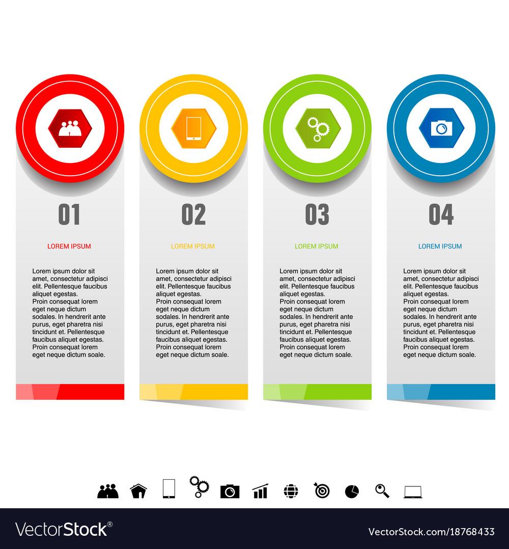 Infographic set with icon design