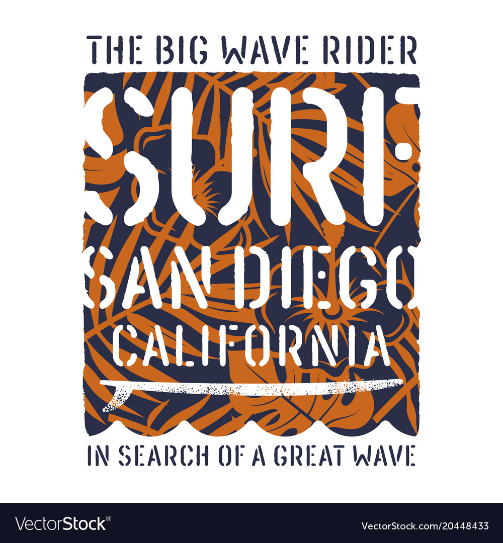 Surfing print 017