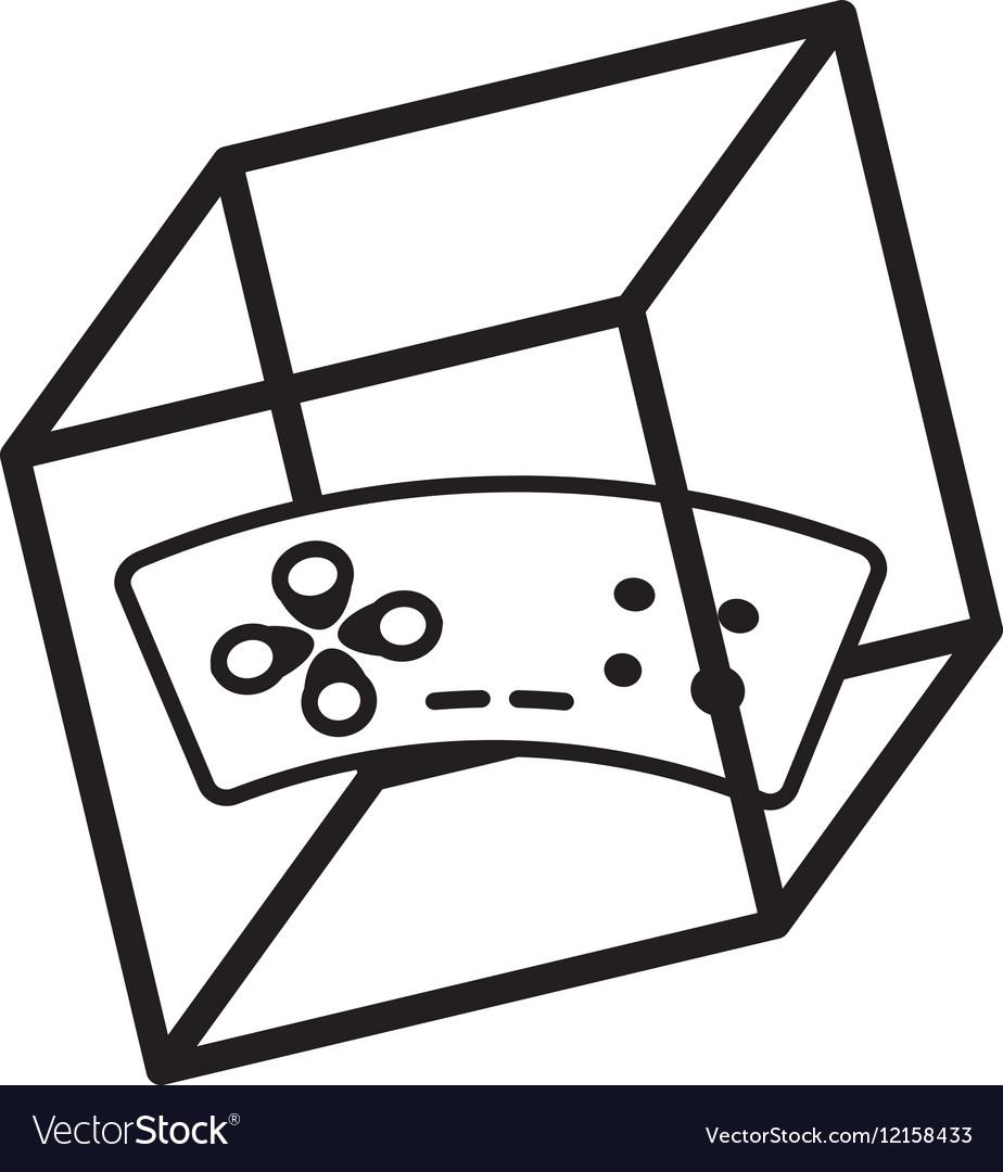 Vr Controller Game D Degree Outline Vector Image - Game outline