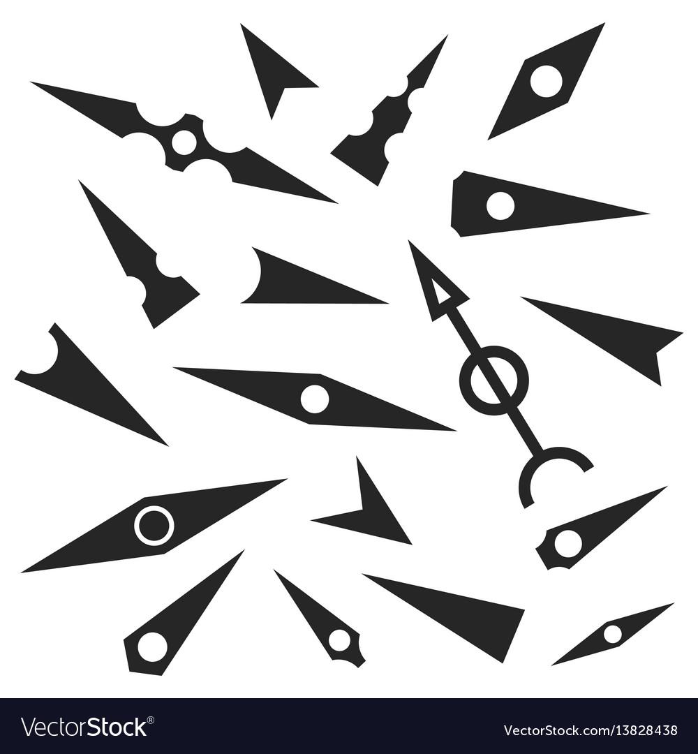 A set of gray arrows