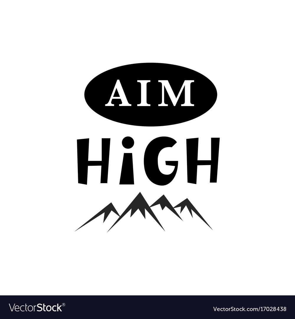 Aim high inspirational hipster kids poster