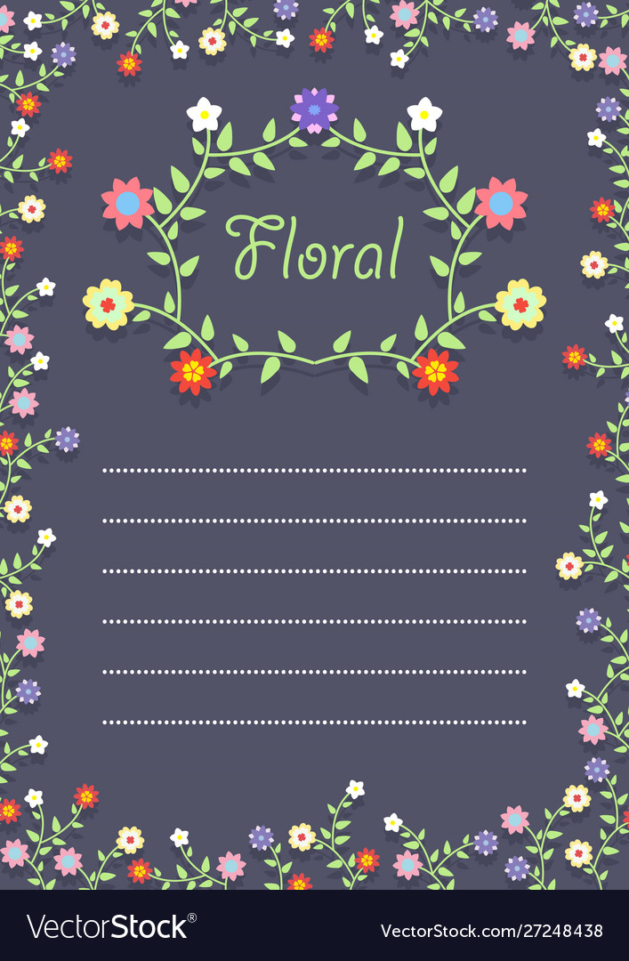 Floral frame on a card