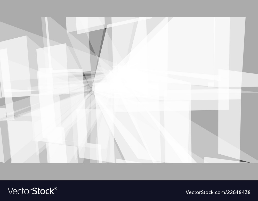 Grey geometric technology background with town