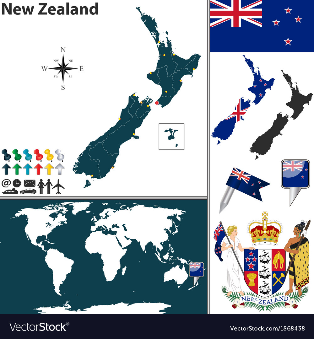 New Zealand Map In World Map.New Zealand World Map Small