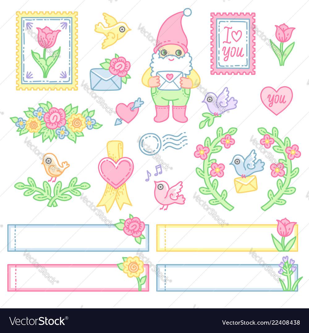 Postal design set