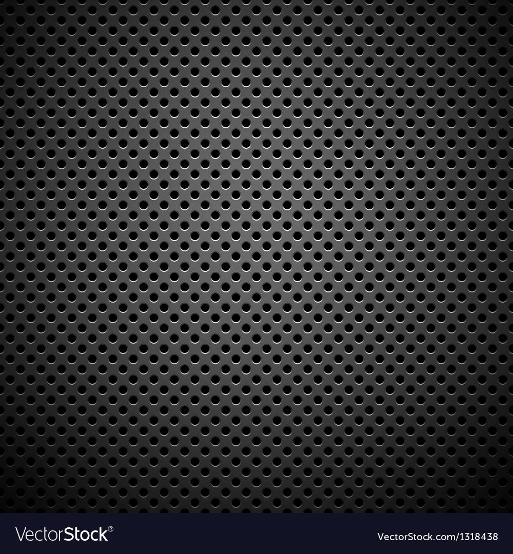 Seamless Circle Perforated Carbon Grill Texture vector image