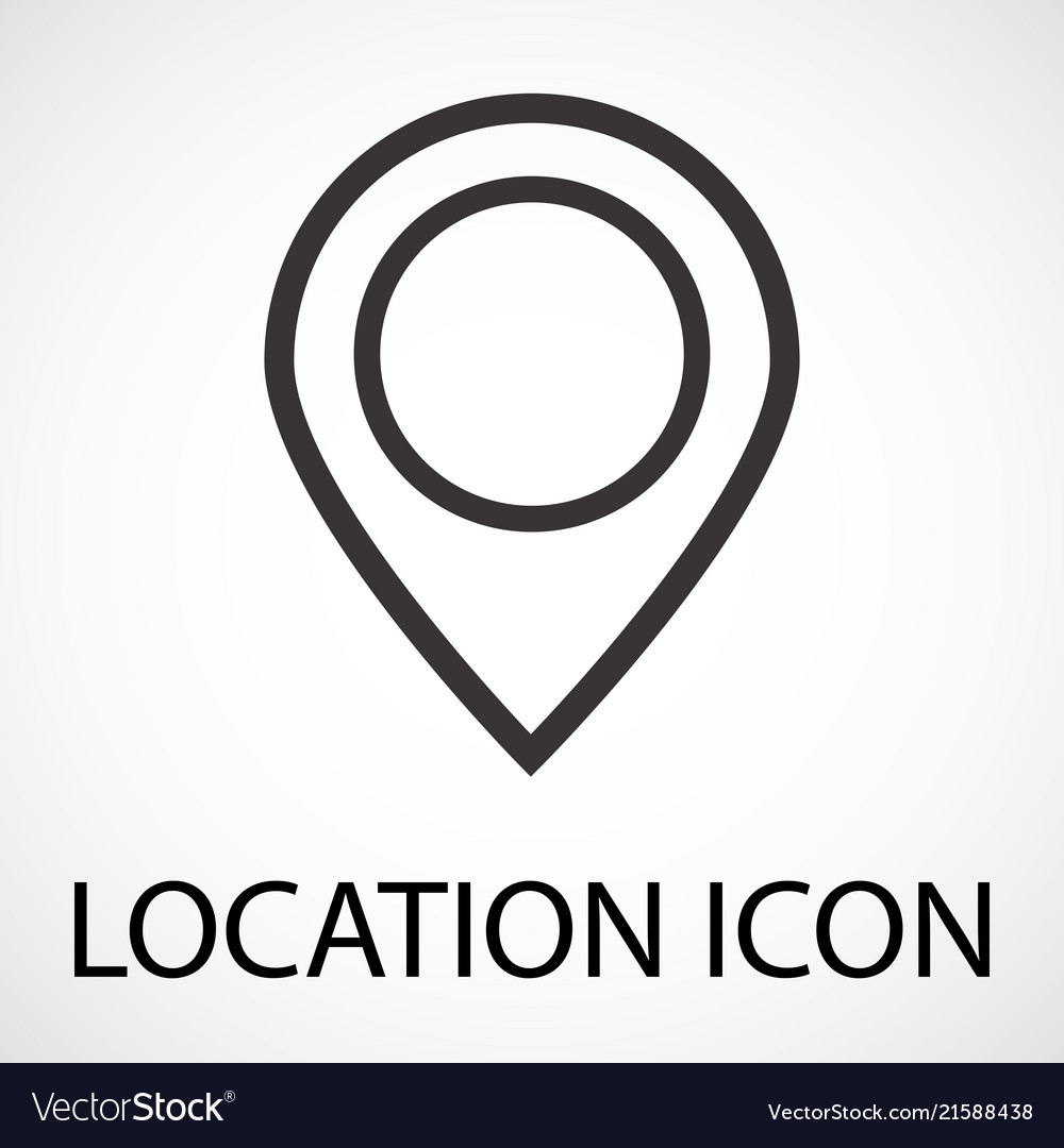 Simple location map pointer icon