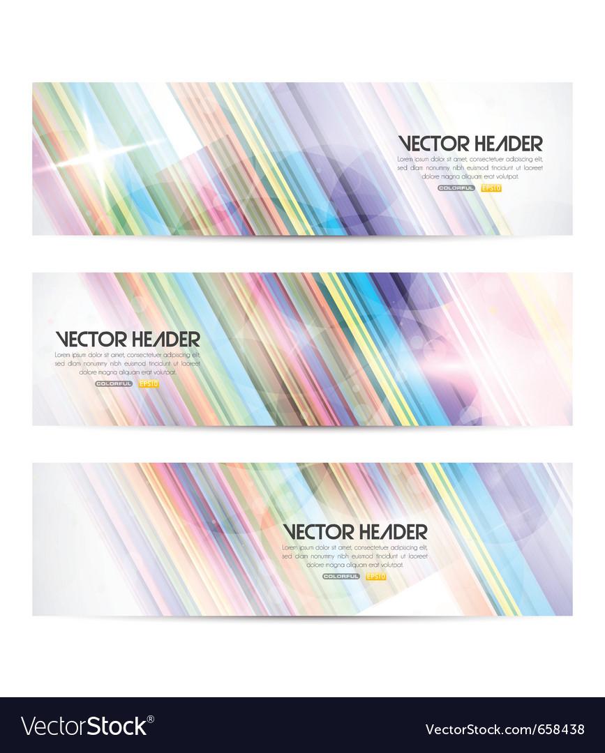 Stripes header vector image