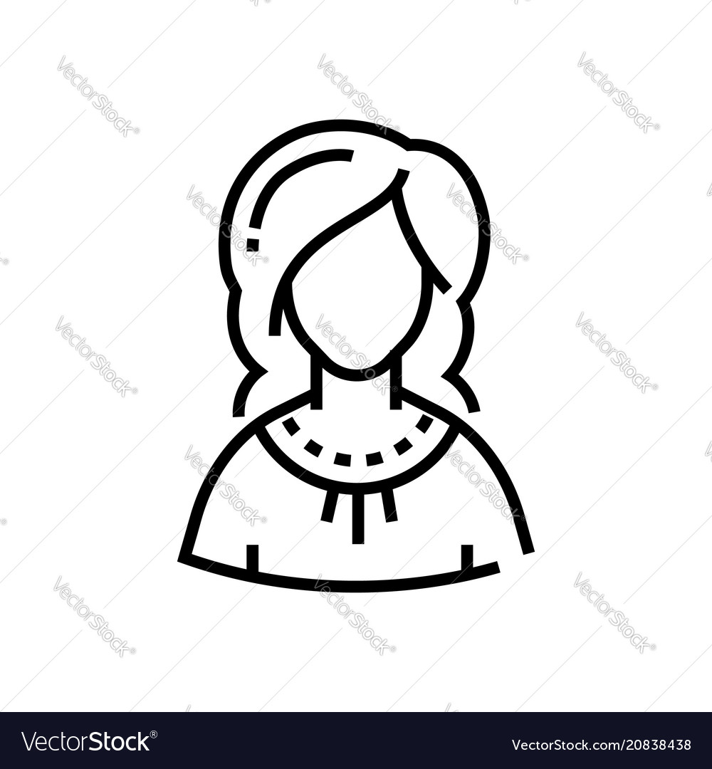Woman - line design single isolated icon