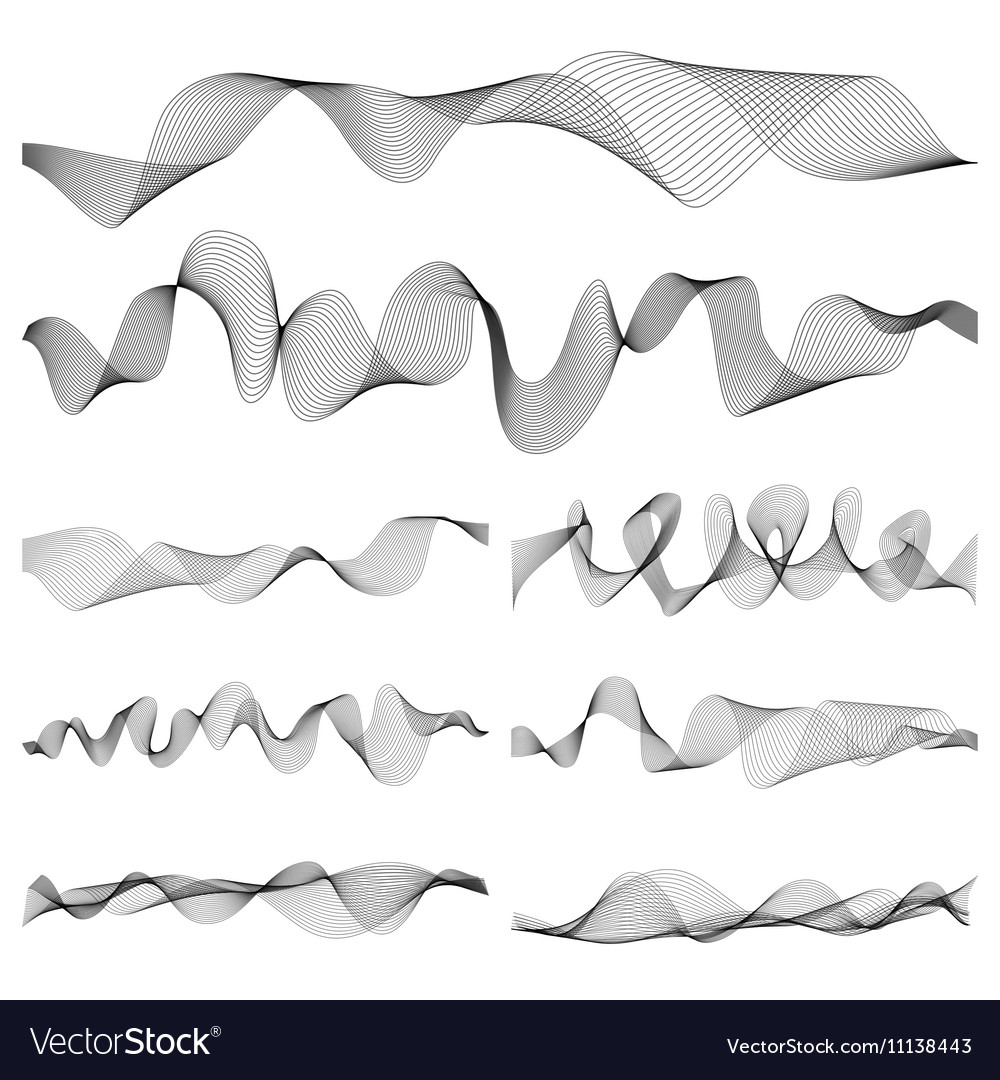 Abstract music sound waves pulse set