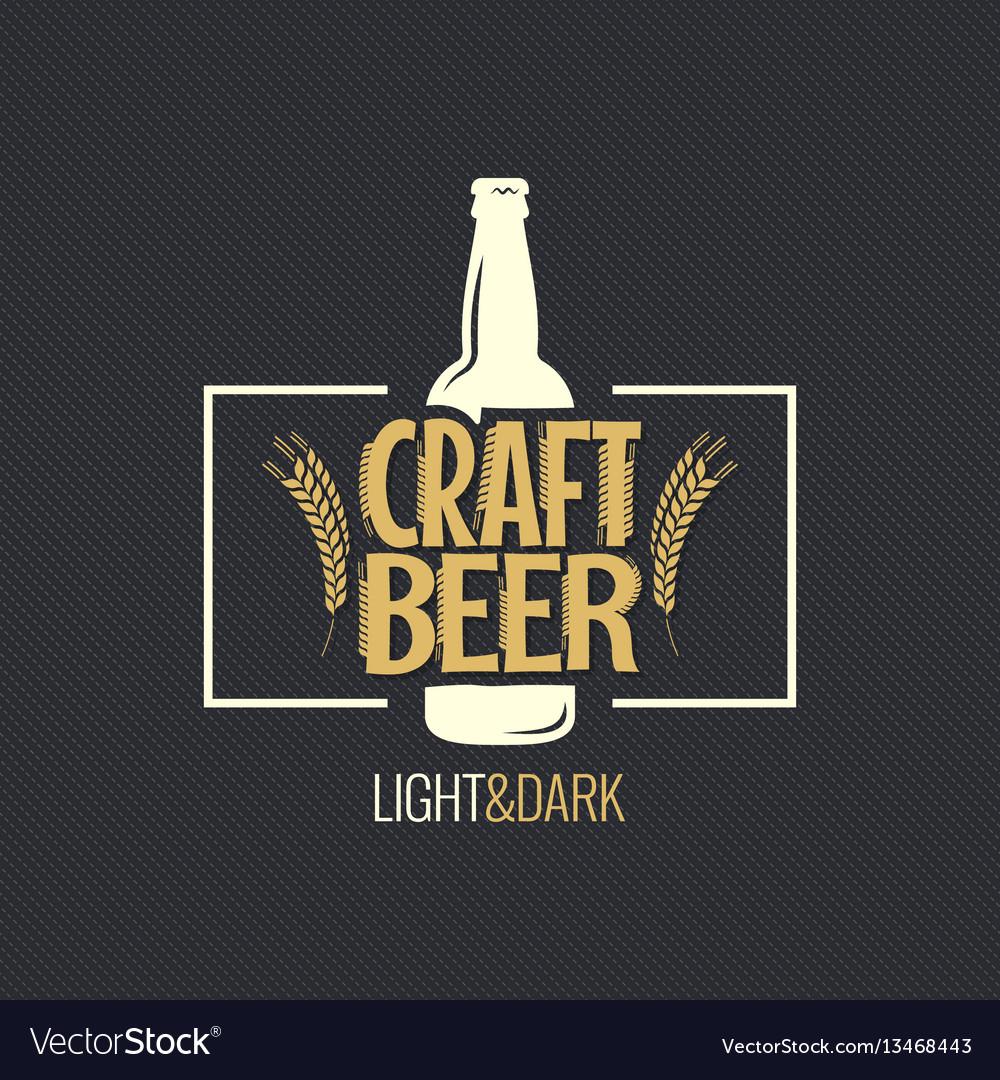 Beer bottle vintage label design background