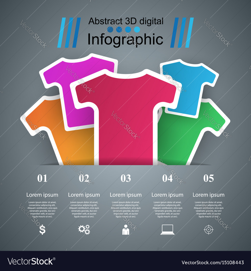 Clothing business infographics t-shirts t-shirts