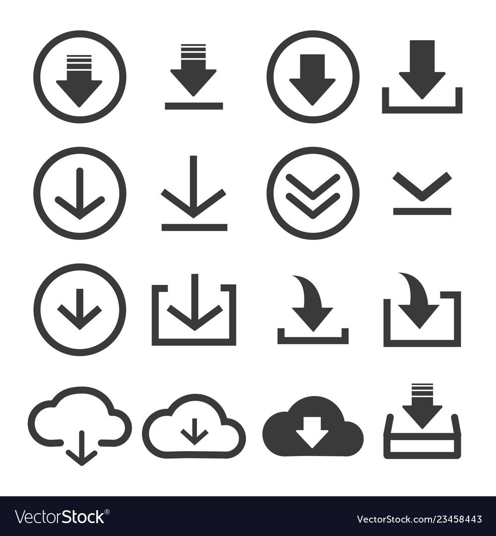 Download file icon set