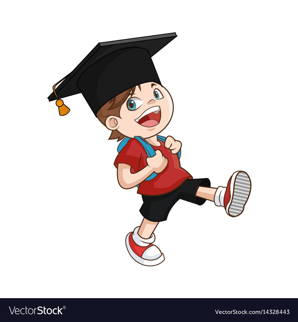 Happy boy student graduate