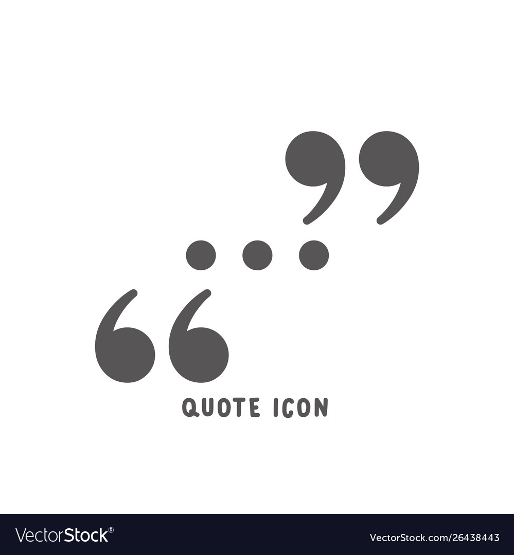 Quote icon simple flat style
