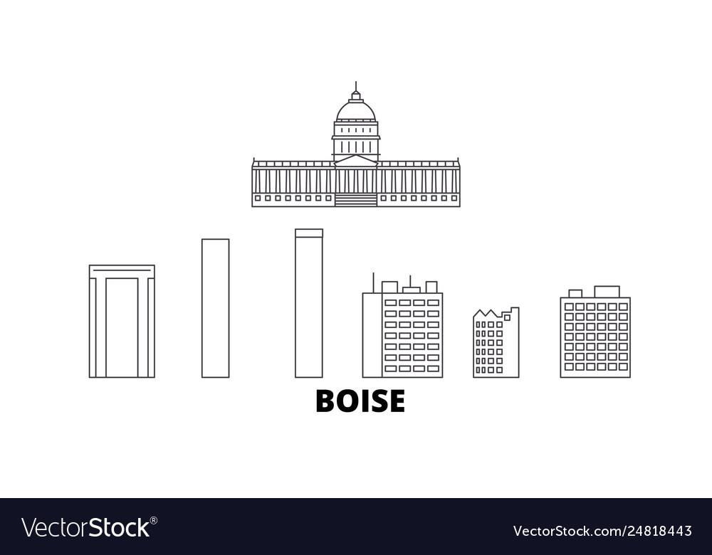 United states boise line travel skyline set