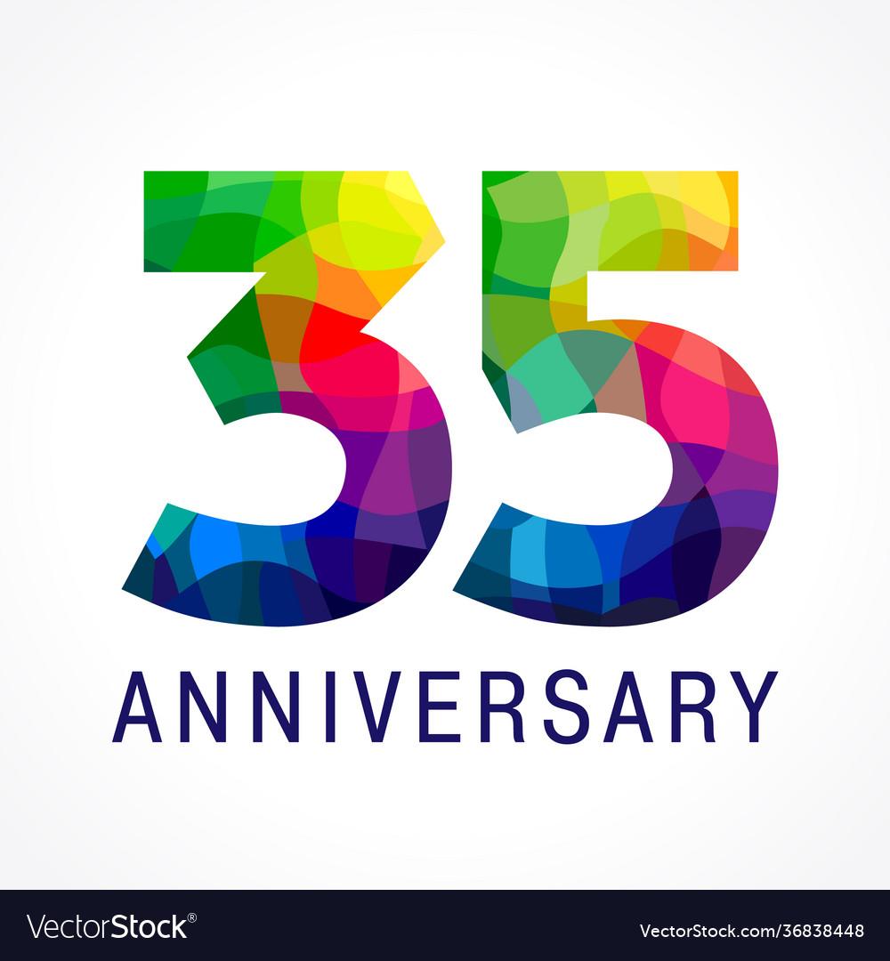 35 anniversary color logo