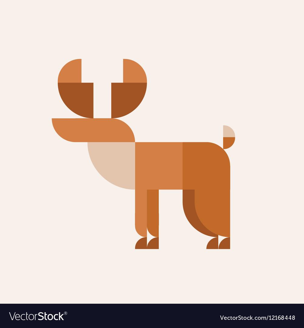 Deer sign flat geometric qualitative