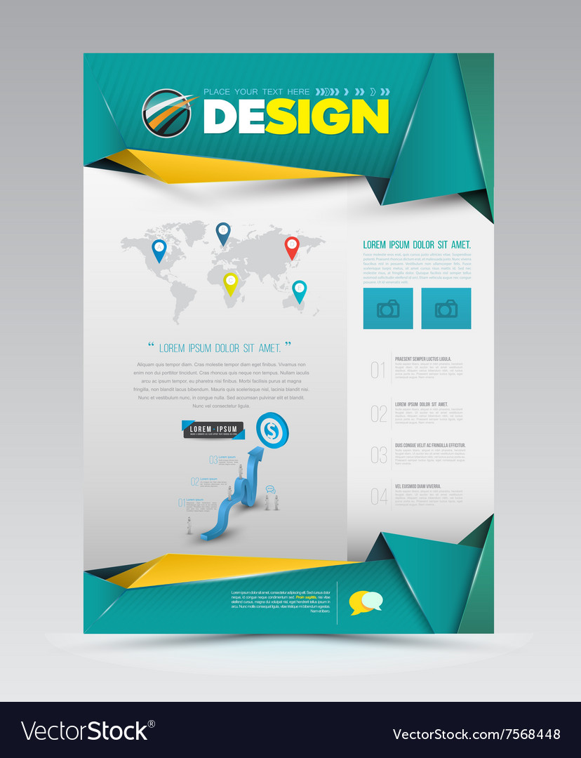 Design page template modern style