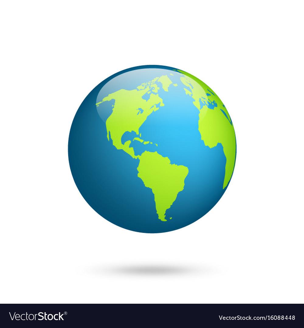 Earth globe world map set planet with continents vector image gumiabroncs Images