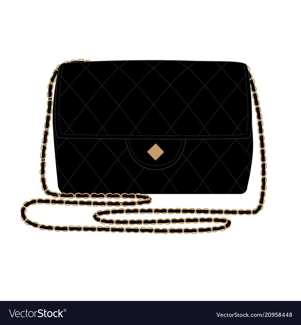 Fashion with quilt black handbag
