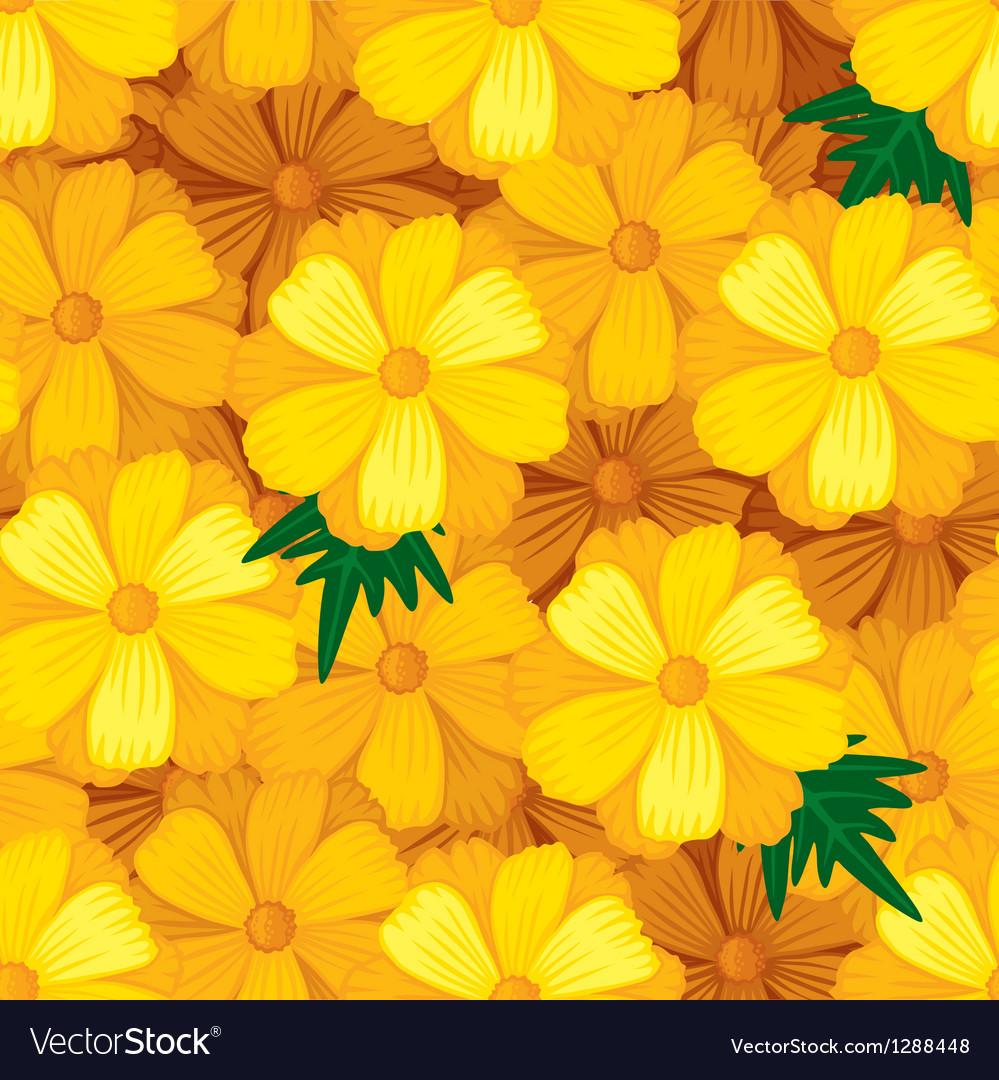 Flower seamless orange