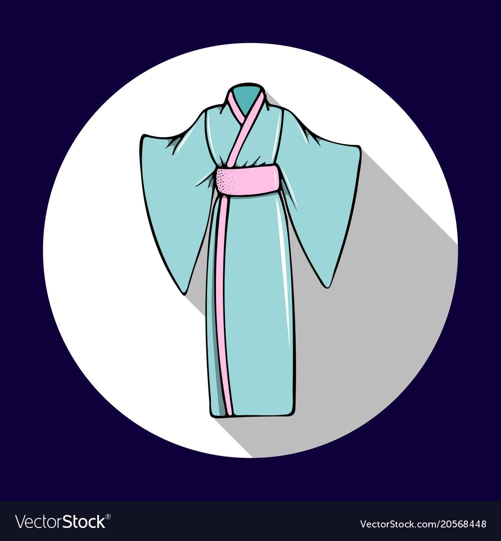 Hand-drawn with the japanese kimono