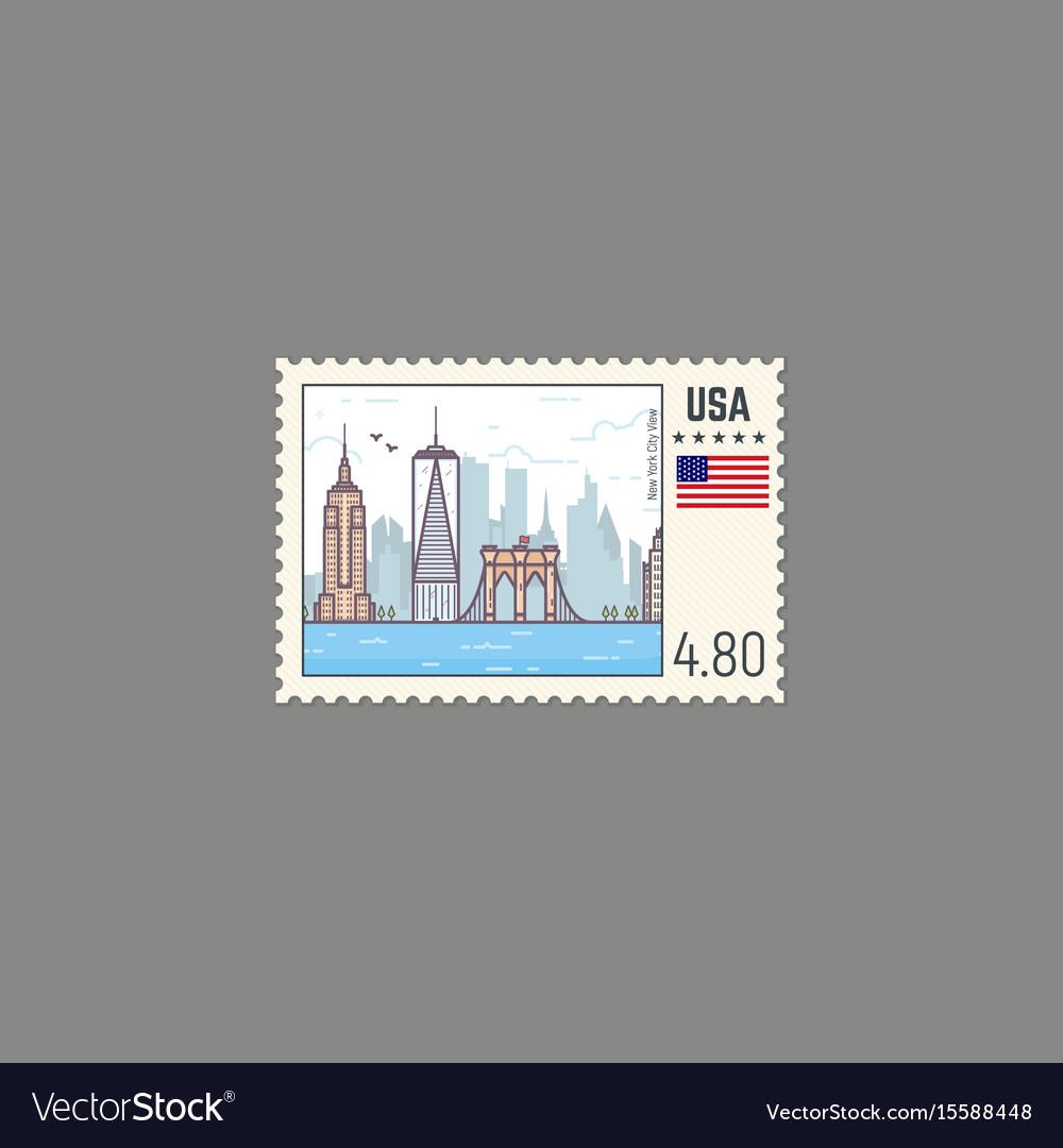 Postage stamp of new york