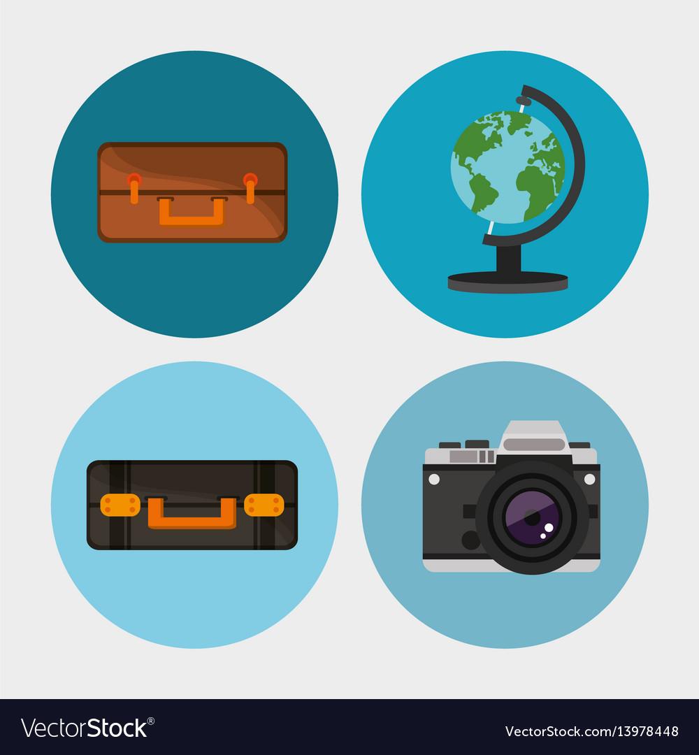 Set equipment travel vacation