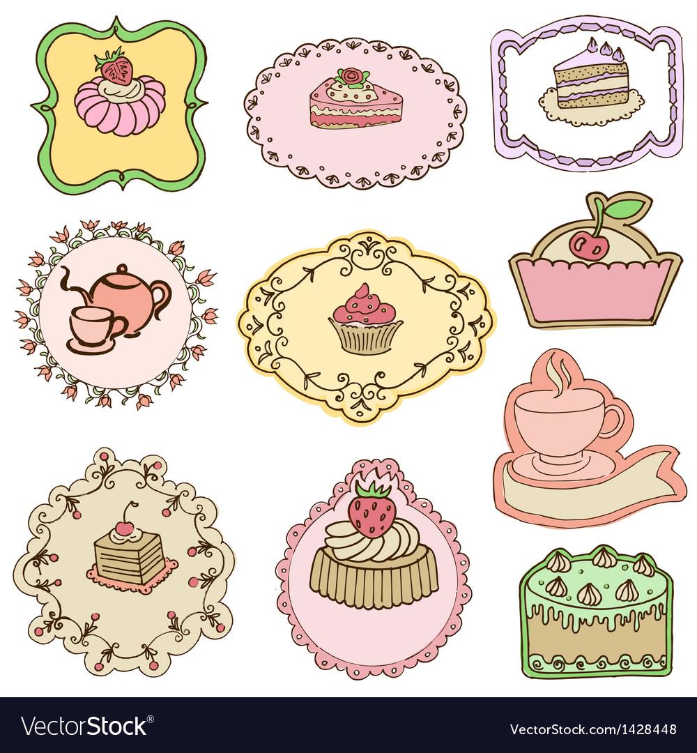 Set of Cute Cake Tags