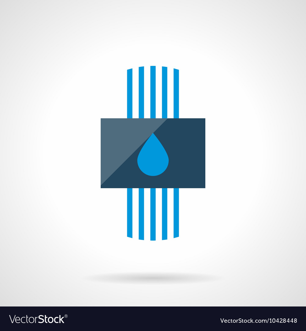 Water heating system modern flat icon Royalty Free Vector