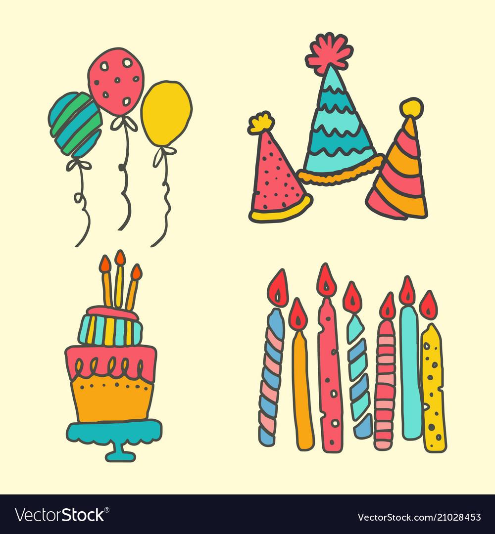 Birht day party vector image