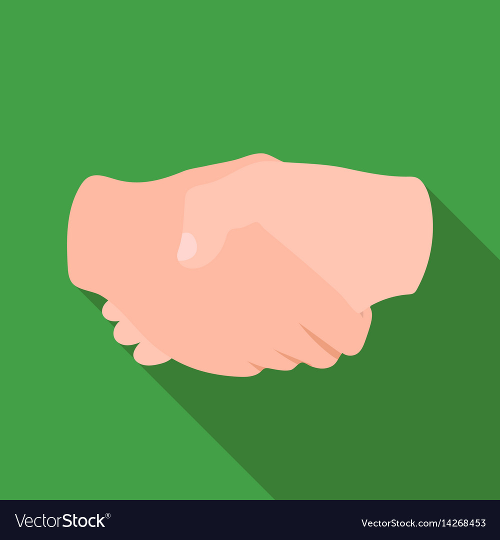 Handshake icon in flat style isolated on white