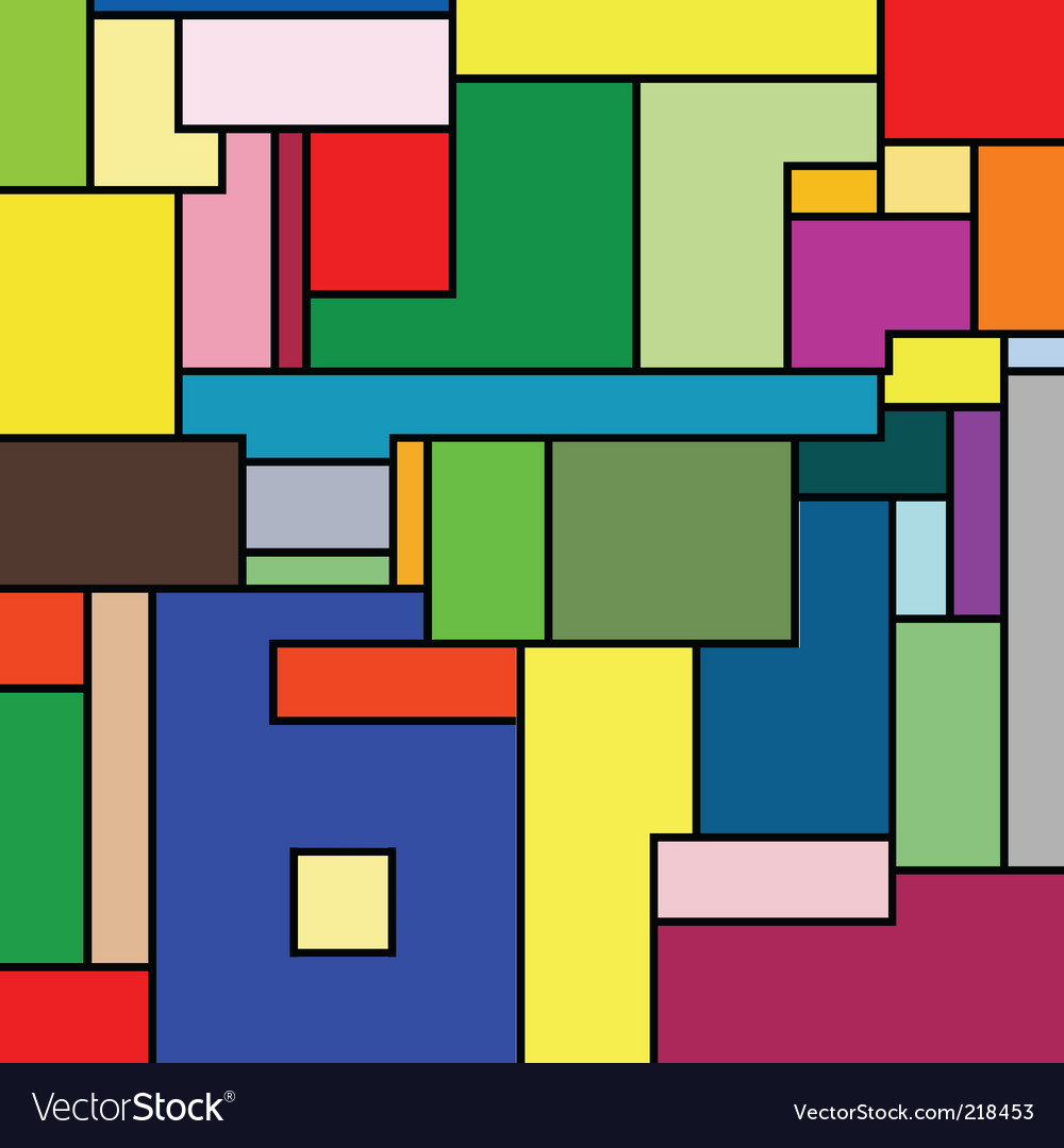 Mondrian texture vector image