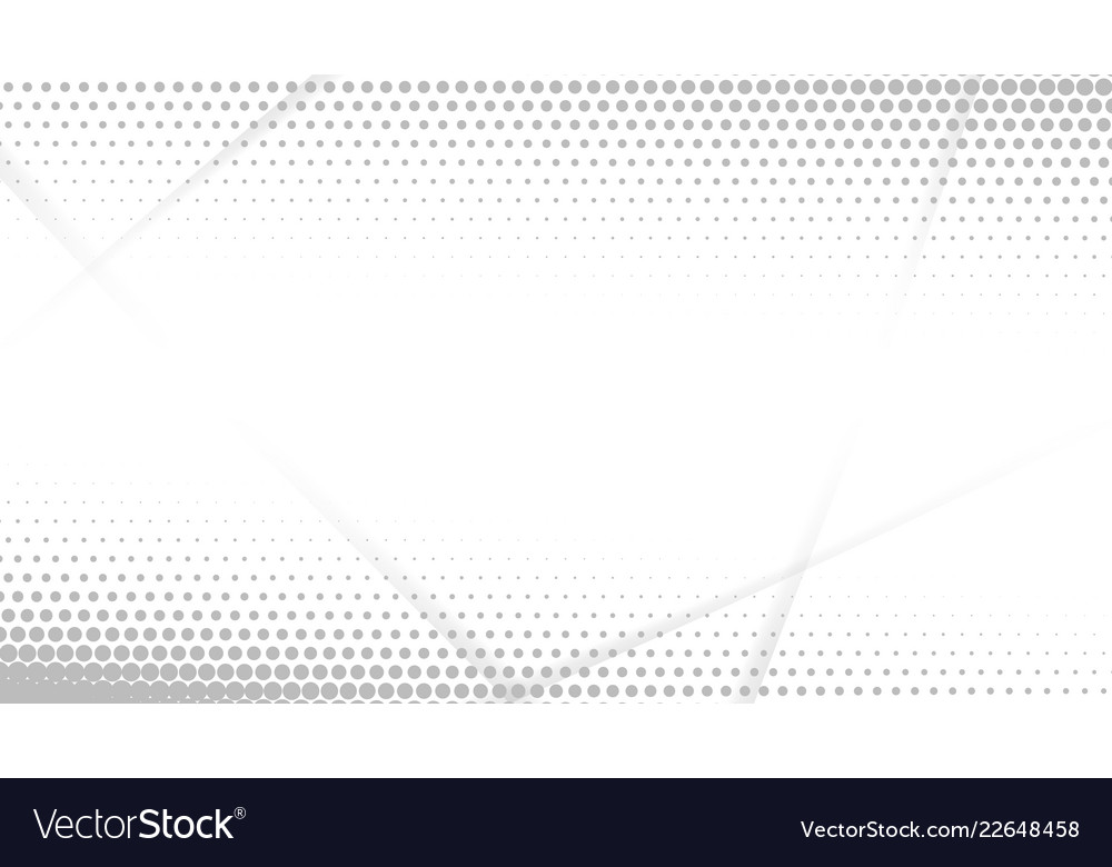 Abstract halftone white and grey dots background
