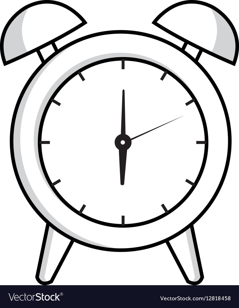 Alarm watch time isolated icon