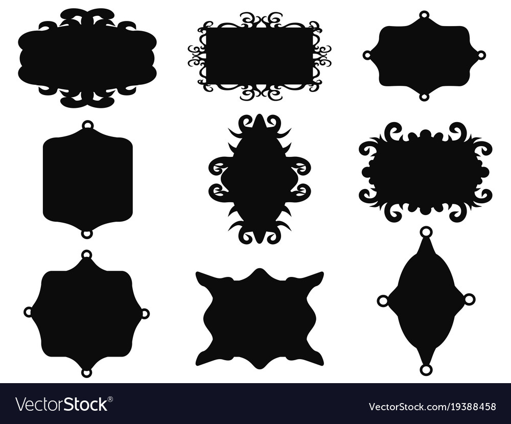 Black vintage frame set Royalty Free Vector Image