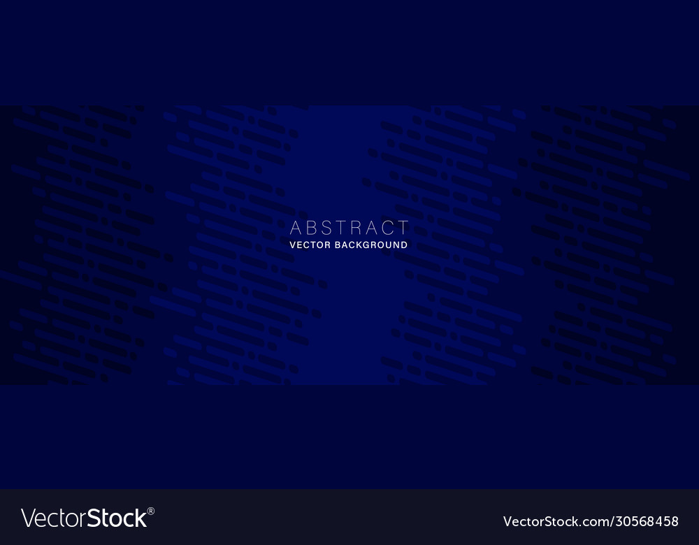 Dark blue abstract background with dot and dash