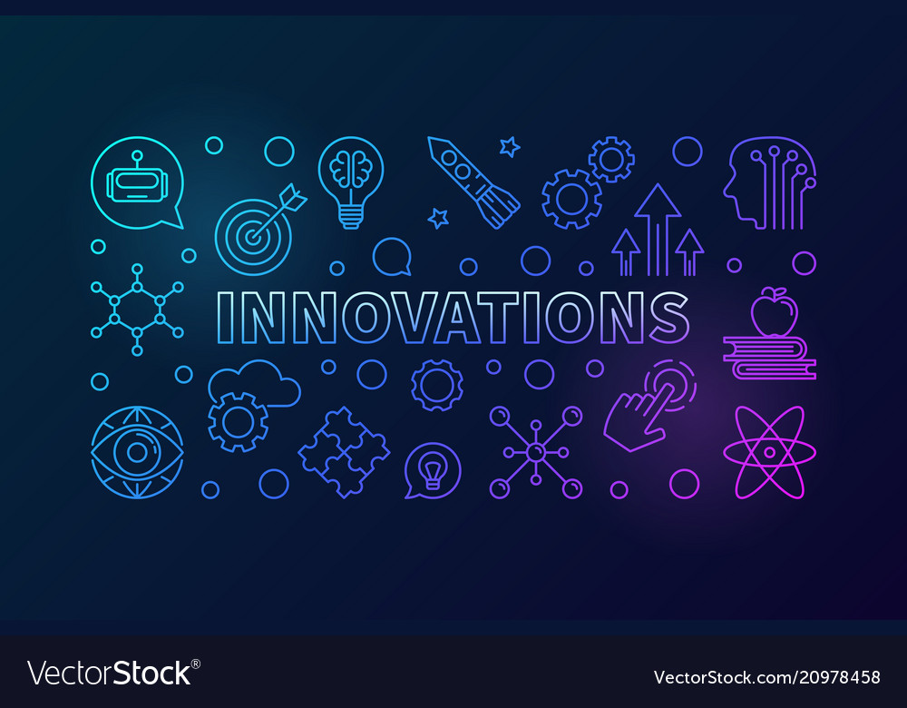 Innovations creative outline horizontal