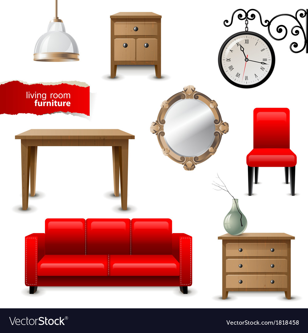 Furniture Ideas For Living Room Stock Vector: Living Room Furniture Royalty Free Vector Image