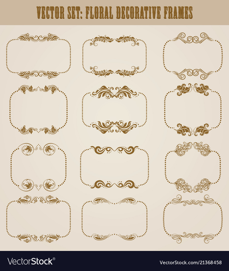 Set of decorative hand drawn elements