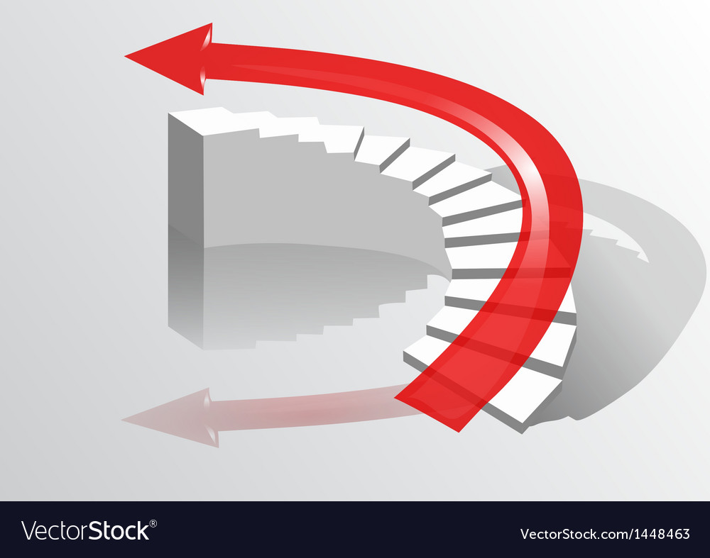Arrow on the stairs