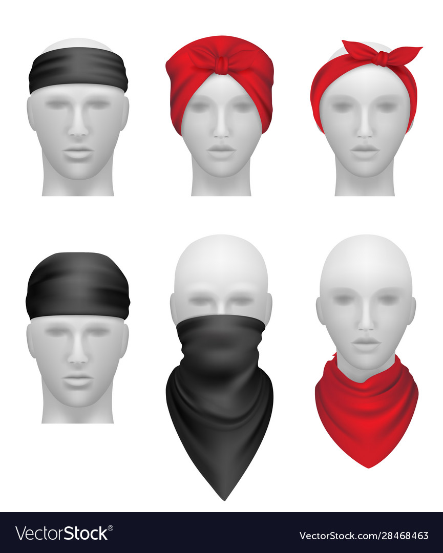 Bandanas set stylish clothes for bikers and