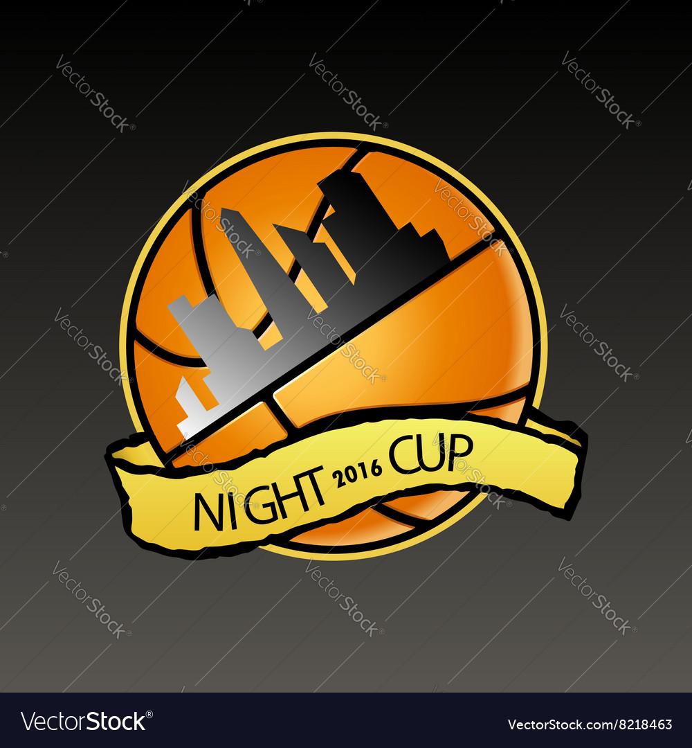 Basketball logo night cup
